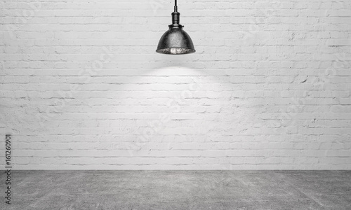 Poster rustic emty room with spot light