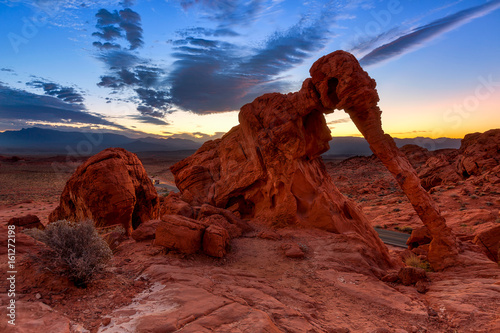 Elephant Rock in Valley of Fire State Park, USA. Valley of Fire State Park is the oldest state park in Nevada, USA