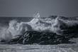 Quadro Stormy sea on rocky coast