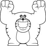 Cartoon Tiger Celebrating
