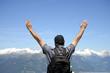 Quadro Man in Dolomites Alps