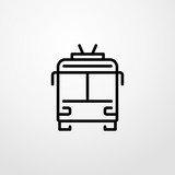 trolleybus icon illustration isolated vector sign symbol