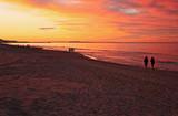 Reddish sunset at the beach