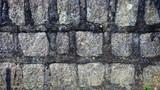 Wall of irregular stones