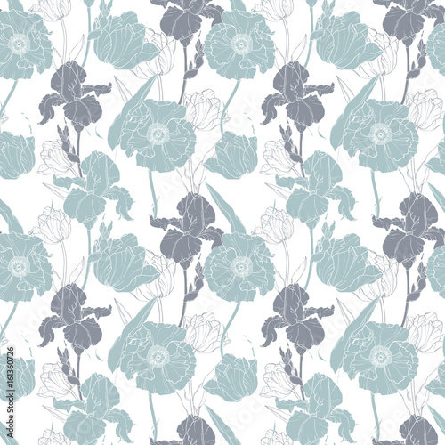 vector-silver-grey-poppies-and-tulips-floral-seamless-repeat-pattern-background-great-for-wedding-or-bridal-shower-decor-invitations-gifts