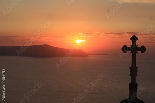 Poster Oranje eclat Pôr do sol sagrado