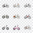 Realistic Equilibrium, Bmx, Adolescent And Other Vector Elements. Set Of Bicycle Realistic Symbols Also Includes Adolescent, Kids, Equilibrium Objects.