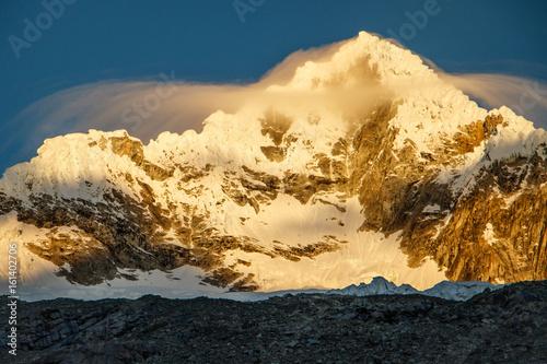 Alpamayo Peak in Huascaran National park in Peru