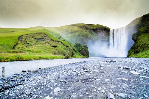 Wodospad Skogafoss w Islandii