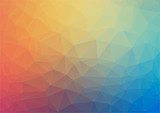 Colorful flat background with triangles