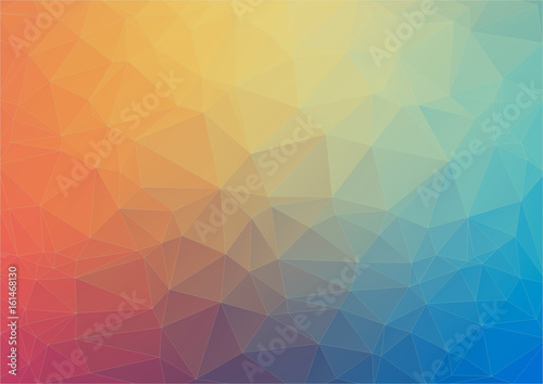 Fotobehang Geometrische Achtergrond Colorful flat background with triangles