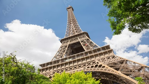 A timelapse of the Eiffel Tower. Timelapse, 4K
