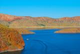 View of Lake Argyle nearby Kununurra, West Australia, Ord River Irrigation Scheme. East Kimberley town of Kununurra