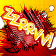 Zzrrvv! - Vector illustrated comic book style expression. - 161508350