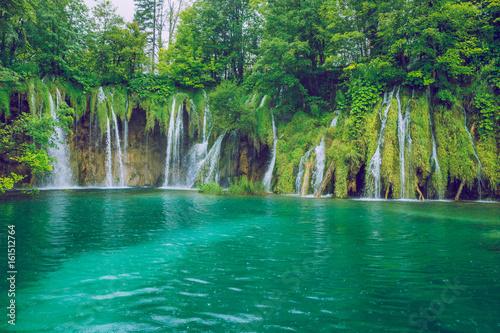 Plitvice lake at Crotia. - 161512764