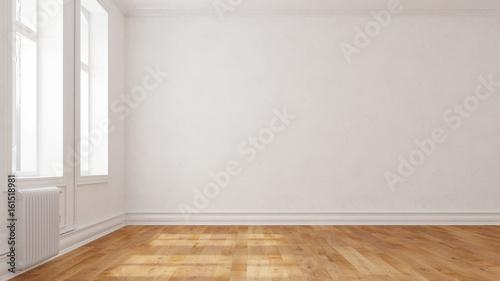 Wand in einer leeren Wohnung