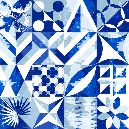 seamless abstract geometric background pattern,seventies retro grunge style