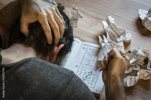Poster Sudoku-Verzweiflung