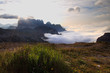 Quadro Dolomites sunrise above clouds