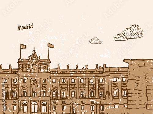 Madrid, Spain, Greeting Card