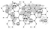 Netzwerke Weltweit - SW - 161552154