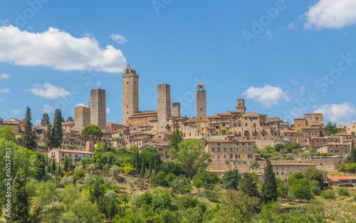 Foto op Aluminium Toscane Panoramablick auf San Gimignano Toskana Italien