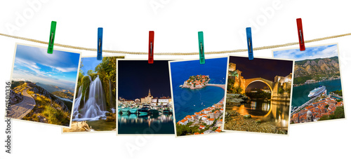 Montenegro travel images (my photos) on clothespins - 161580336