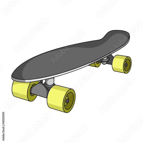 Fotobehang Skateboard Skateboard.Extreme sport single icon in cartoon style vector symbol stock illustration web.
