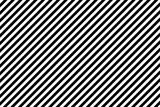 Stripes diagonal pattern. White on black. Vector illustration. - 161585114