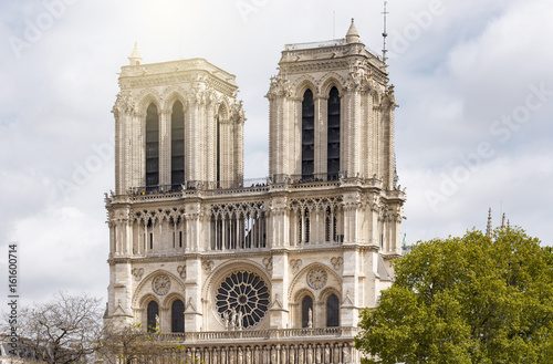 Notre-Dame de Paris in the evening in Paris
