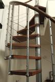 Escalier moderne en colimaçon