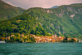 Town of Varenna town at Lake como,Italy. scenic landscapes of Lago di Como - Cadenabbia, Italy - 161622587
