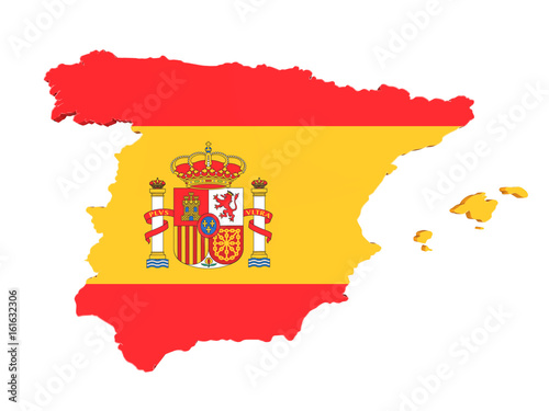 Map of Spain Isolated
