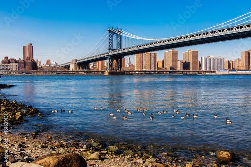 Manhattan bridge from Dumbo, Brooklyn, New York, USA Poster