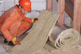 roll of mineral wool - 161658595