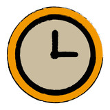 clock world time concept business daily icon vector illustration