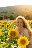 Beautiful Sunflower Woman