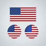 American trio flags, vector illustration - 161685960
