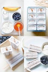 Blueberry honey yoghurt ice cream popsicles step by step recipe