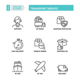 Thin line icons. Transport service - 161688799