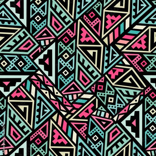 Stoffe zum Nähen Abstraktes Vektor nahtlose Muster im Ethno-Stil