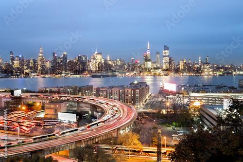 Midtown Manhattan Night - New York City Poster