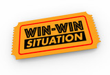 Win-Win Situation Ticket Lucky Result Good Outcome 3d Illustration - 161716553