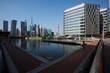 Quadro Sunny sky at city building of Shanghai skyline