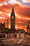 mystic sunset at Big Ben, London city, United Kingdom