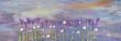 Lavendel auf Holzuntergrund - Panorama
