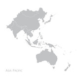 Map of Asia Pacific - 161782755