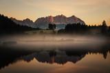 Sonnenaufgang am Wilden Kaiser in Kitzbühel, Österreich © lichtenbergerm
