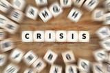 Crisis financial management communication depts dice business concept - 161802329