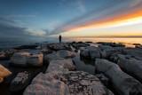 Dramatischer Sonnenuntergang in Kroatien